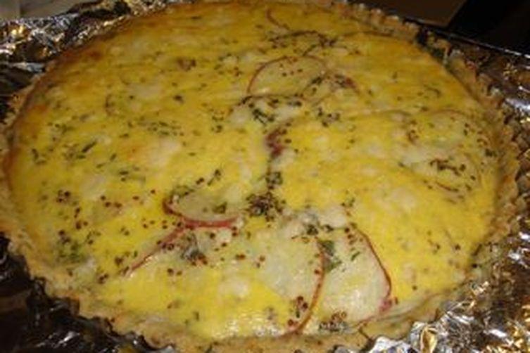 Savory Mustard Tart with Potatoes and Chard