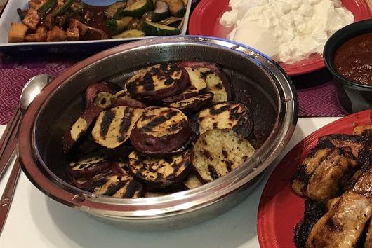 Grilled Korean Sweet Potatoes