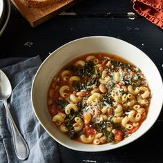 Pasta and Bean Soup with Kale, Revisited