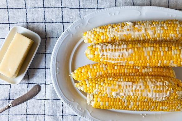 Finished corn with butter