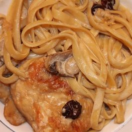 Chicken, Wine, Mushrooms, Cherries and Cream