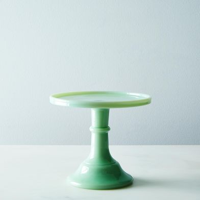 "OLD Jadeite 6"" Glass Cake Stand"