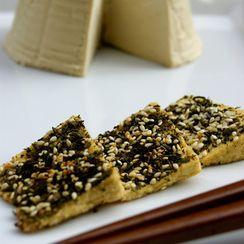 Tea crusted tofu