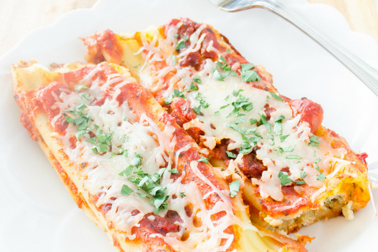 Healthy Stuffed Manicotti Shells