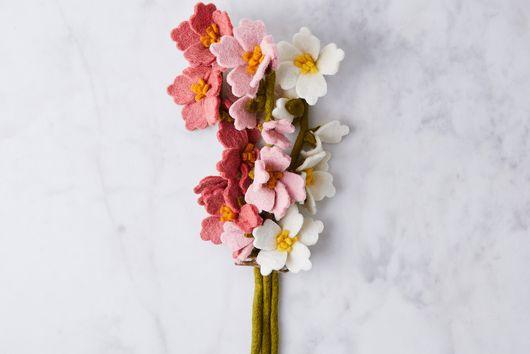Handmade Felt Flower & Eucalyptus Bouquets