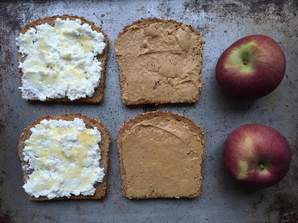 Ricotta on Toast with an Apple