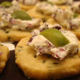 Manchego Olive Crackers with Creamy Radicchio Spread
