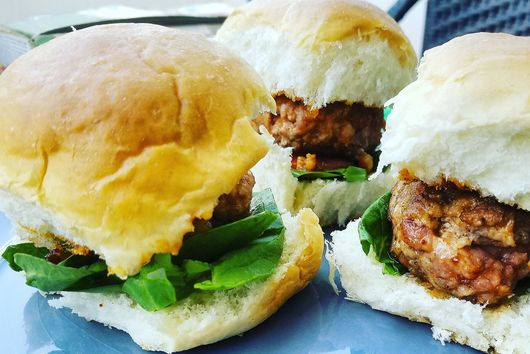 Smoky Pork sliders with BBQ sauce