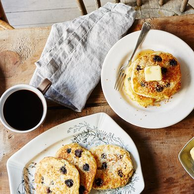 Coconut Blueberry Pancakes by Kendra Vaculin