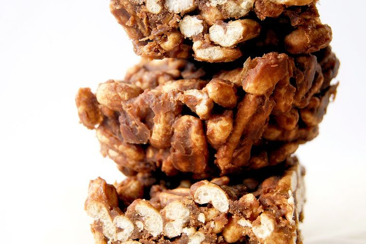 Peanut Butter Puffed Wheat Squares