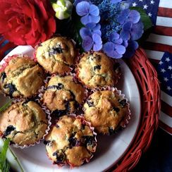 MINT Red, White, & Blue-berry Muffins
