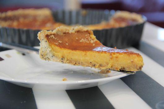 Passion fruit lemon tart