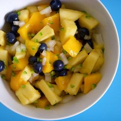 Spicy Mango Pineapple Salad (or Salsa)