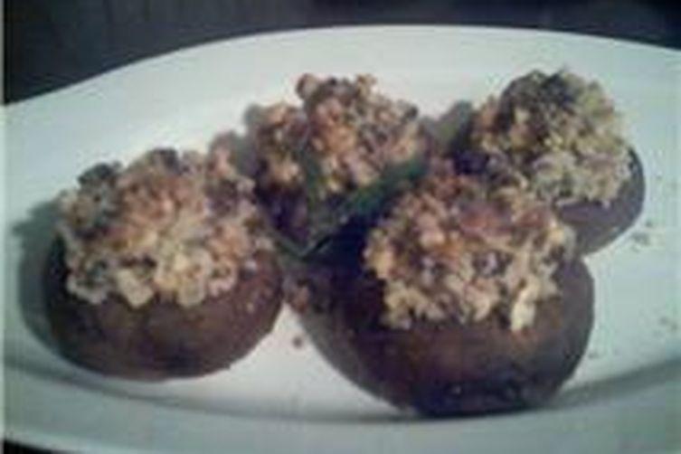Nuts Stuffed Mushroom