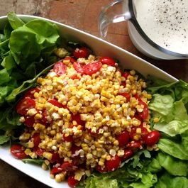 Grilled Corn Salad with Creamy Lime Vinaigrette