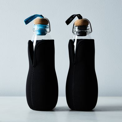 Glass Water Bottle with Charcoal Filter