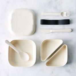 Bento Lunch Box & Cutlery Set