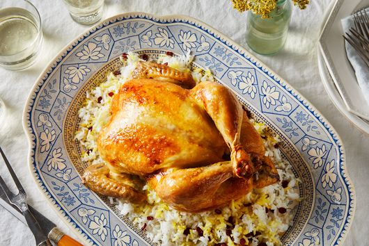Persian Saffron Roast Chicken & Barberry Rice