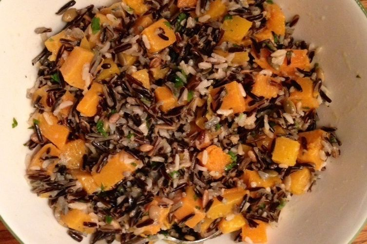 Sweet Potato and Wild Rice Pilaf