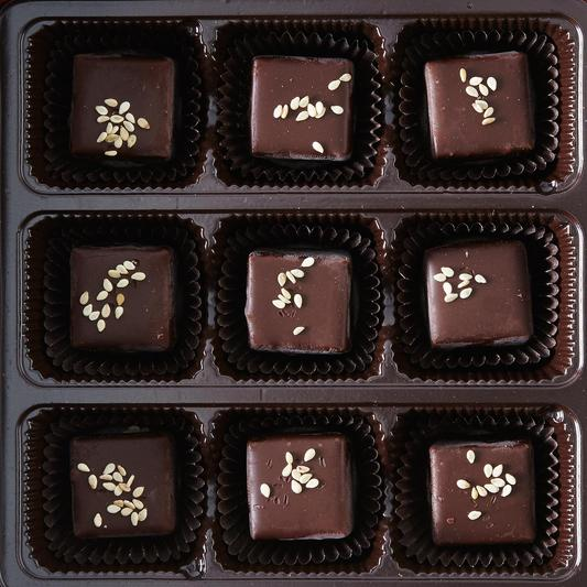 Sesame Tahini Chocolate Gift Box (9 Pieces)