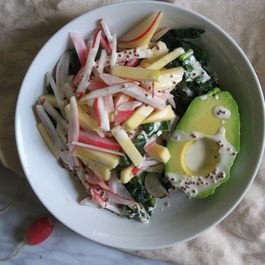 Chopped Radish Salad with Apples, Avocado and Kale
