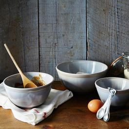 Grey Swirl Mixing Bowls