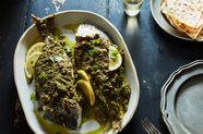 Samke Harra (Lebanese Spiced Fish), Featuring Porgy