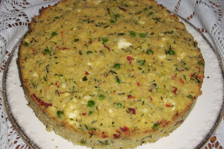 Rice savory cake