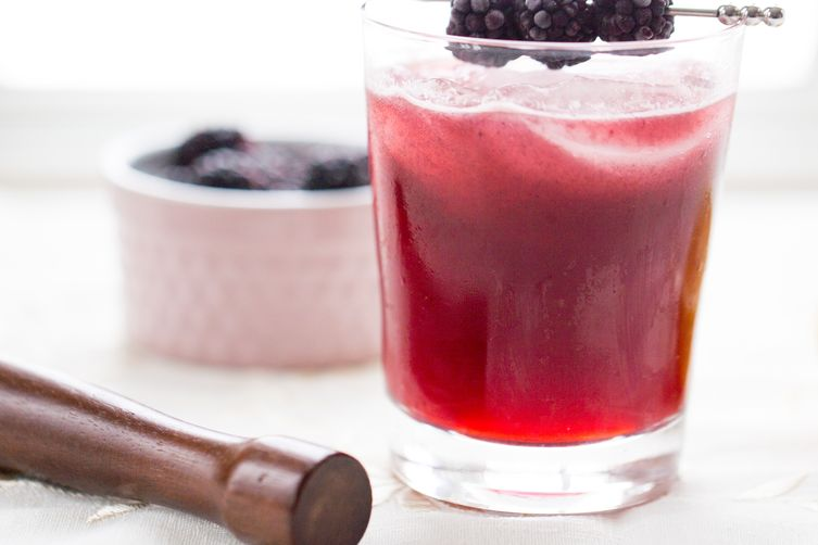 Blackberry-Cherry Sidecar