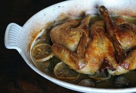 Dinner Tonight: Spatchcocked and Braise-Roasted Chicken