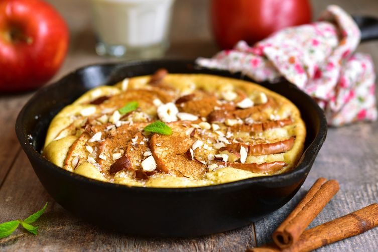 German Baked Chai Apple Pancakes