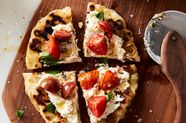 Speedy Romeo's Grilled Pizza with Marinated Tomatoes & Ricotta