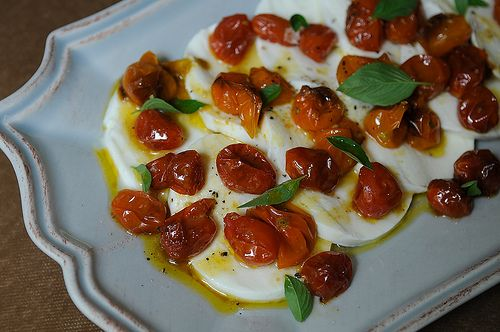 Mozzarella and Roasted Cherry Tomato Salad