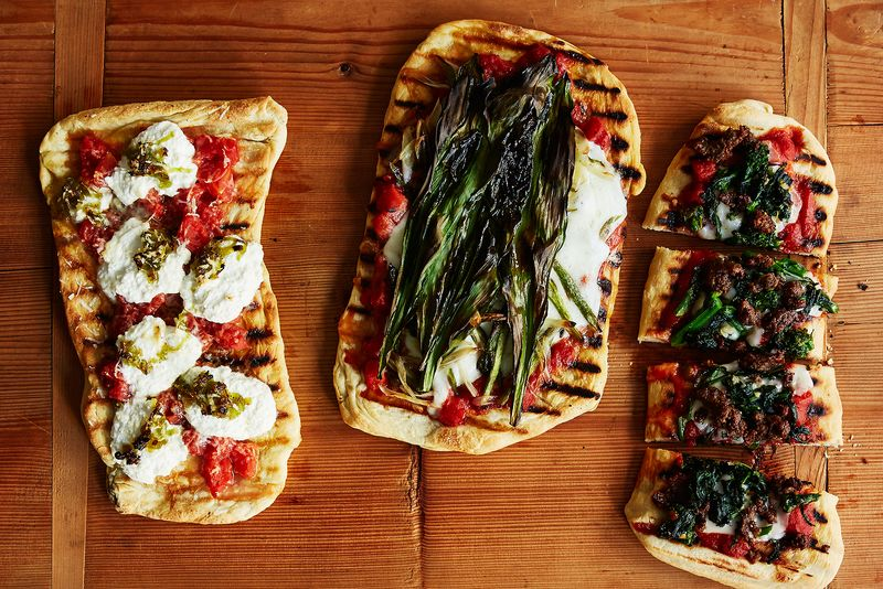 Grilled flatbread pizzas, oh my!