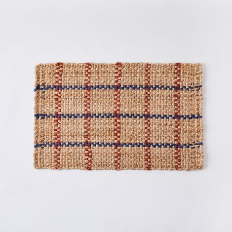Handwoven Windowpane Jute Indoor Mat