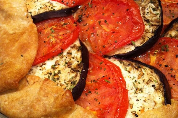 End of Summer Heirloom Tomato and Eggplant Galette