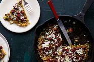 Chorizo, Pesto, & Mozzarella Noodle Pizza