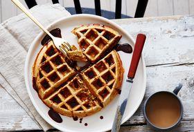 536b538e ff2b 4592 949c 2e5ebb1690e4  2016 0617 ras al hanout pistachio belgian waffles with pomegranate honey syrup bobbi lin 25823
