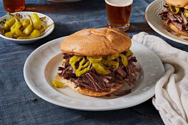 Poker-Break Pulled Beef Sandwiches