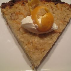 Kumquat and Chestnut Rice Pudding Tart