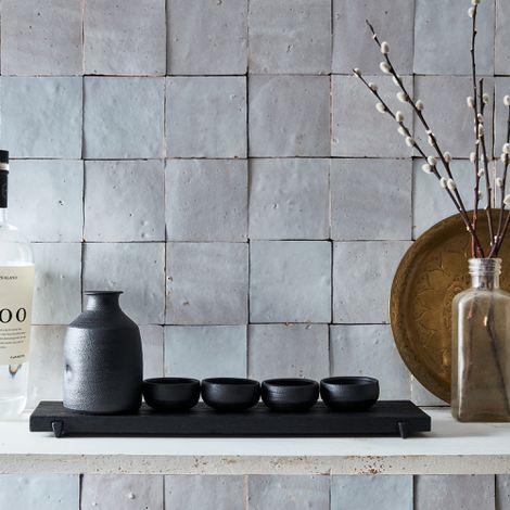 Handmade Matte Black Sake Set