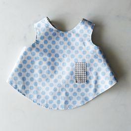 Reversible Fabric Toddler Bib