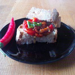 Cold peperoni salad/sandwich