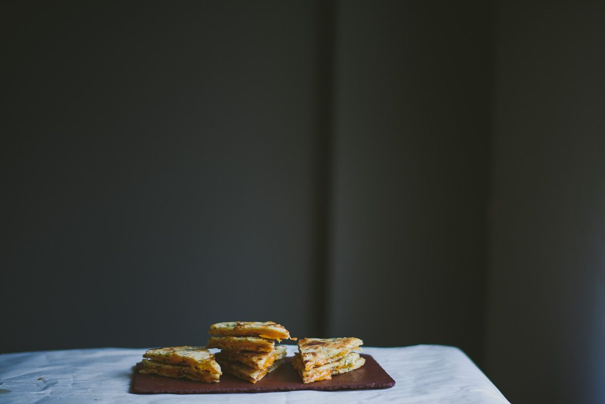 Scallion Pancake Quesadillas