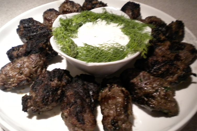 Kebapcheta with Tzatziki