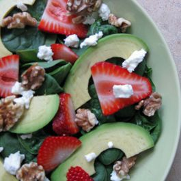 Springtime Spinach Salad with a Twist