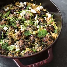 Lamb Meatballs with Spinach and Orzo