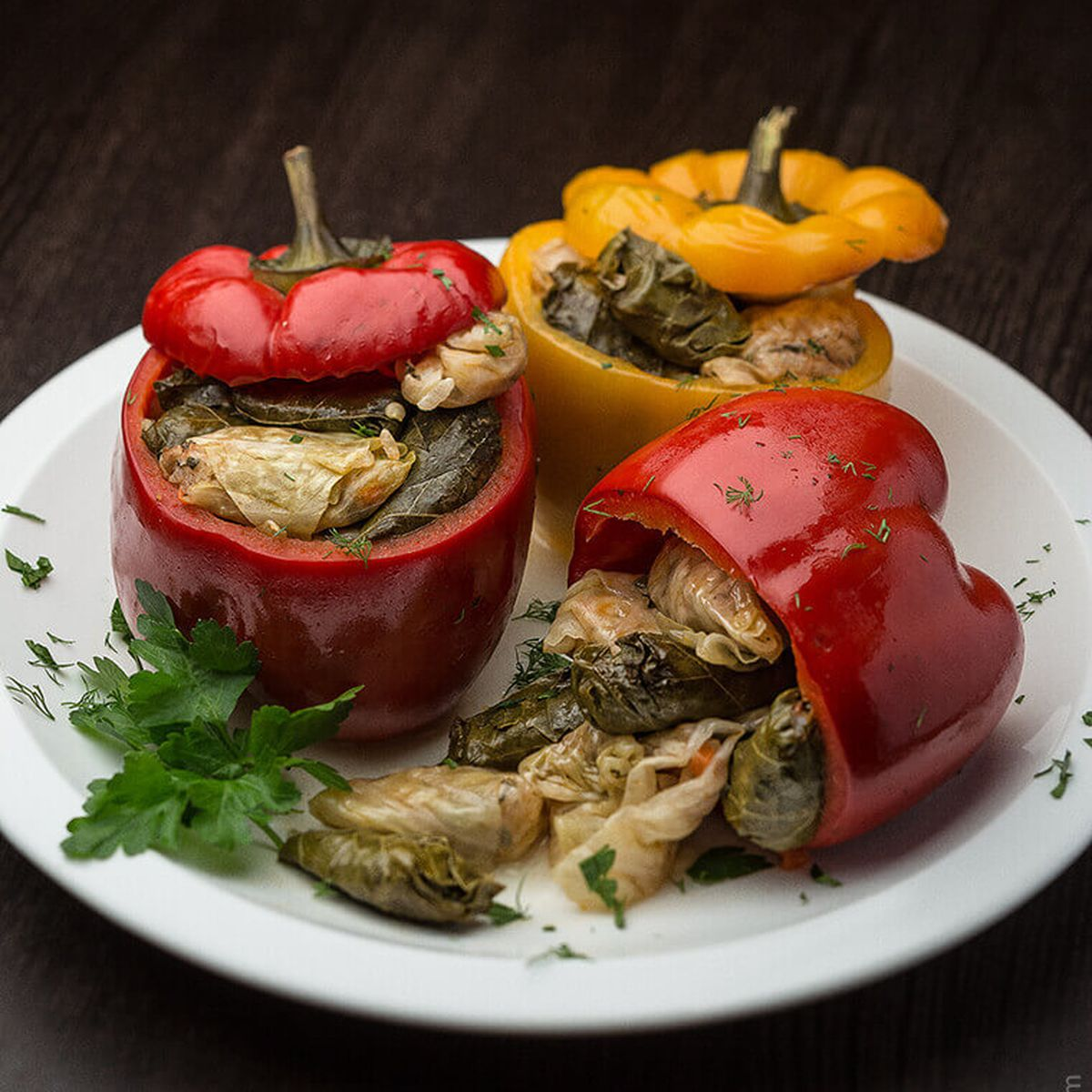 Cabbage Filled Peppers Recipe