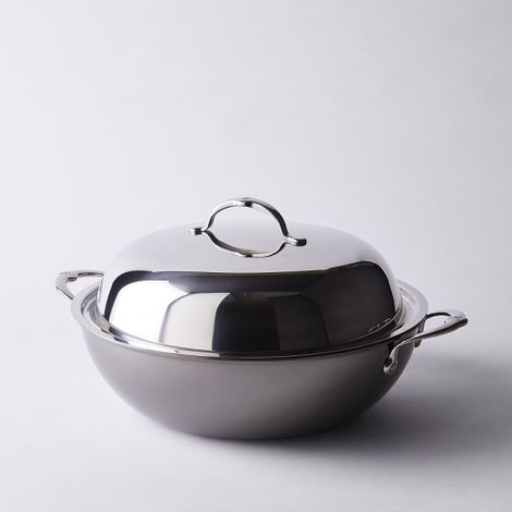 "Hestan Nanobond Stainless Steel Wok with Lid, 14"""