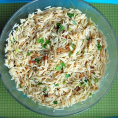 Orzo with Toasted Pine Nuts
